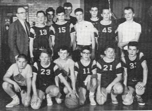 Shady Side Academy Class of 1965 8th grade basketball team