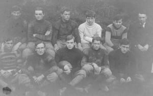 Shady Side Academy 1904 undefeated football team CE Ahl captain